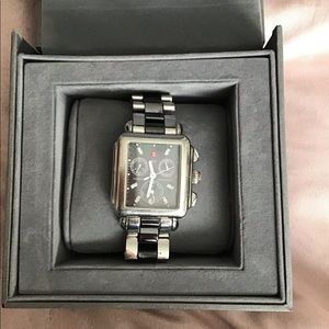Michele Deco Stainless Steel Diamond
